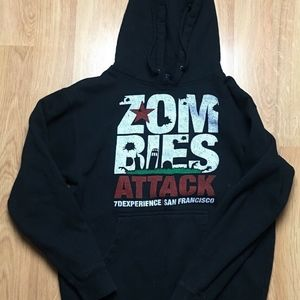 Zombies Attack 7D San Francisco Small Hoodie